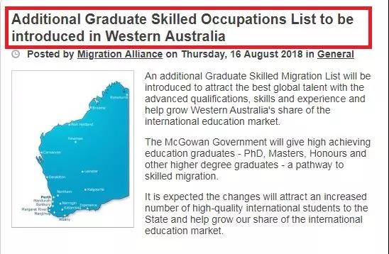 additional graduate skilled occupation list to be introduced in WA